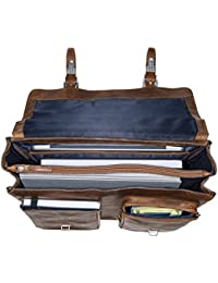"""Jost Briefcase 2 compartments 15"""" Glasgow Christmas Edition Leather l"""