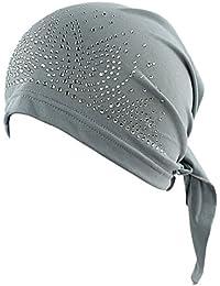 Choose Women Femme coiffe Foulard bonnet perlé brillants pour perte de cheveux cancer chimo