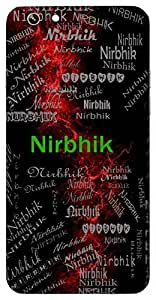Nirbhik (Fearless) Name & Sign Printed All over customize & Personalized!! Protective back cover for your Smart Phone : Samsung GALAXY Note 3 Neo 3G N750