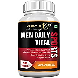 MuscleXP Men Daily Sports Multivitamin (49 Nutrients, Vitamins, Minerals, Amino Acids, Anti oxidants) - 90 Tablets