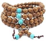 8mm-108 Perles en Bois de Santal Naturel Collier/Bracelet Chaîne Chapelet Perles...
