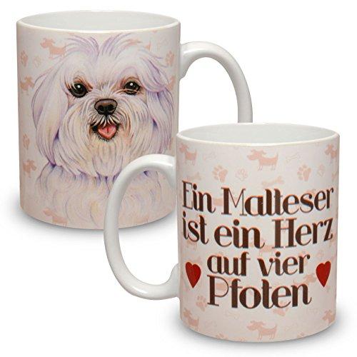 Kaffeebecher mit Motiv Hund Große XXL Tasse Malteser