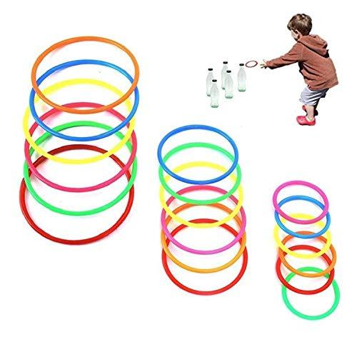 30 Stück Plastik Toss Ringe für Kinder Jagen,Geschwindigkeits und Beweglichkeitstraining Spiele,Karneval Garten Hinterhof Outdoor Braut Dusche Jagen Stand für Camping,Piknik ()