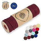 hilo macrame 5 mm trapillo bobinas - cuerda algodon cordon para trenzado tejer a crochet manualidades burdeos 50 Metros