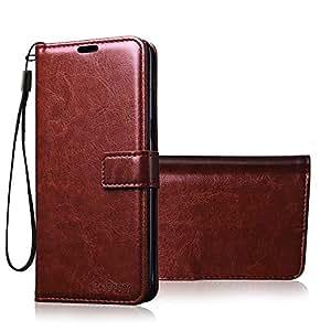promo code bde61 1df13 Bracevor Xiaomi Redmi Note 3 Flip Cover Case : Inner TPU, Leather Wallet  Stand - Executive Brown
