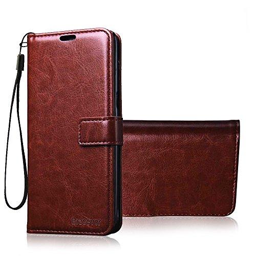 Bracevor Motorola Moto X4 Premium Flip Cover Leather Case | Inner TPU | Wallet Stand