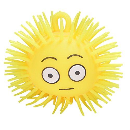 Kinder kreative Licht-up Emoji Spike Ball mit Aufhängeschlaufe Flexible Flash Rubber Vent Ball zufällige Stil