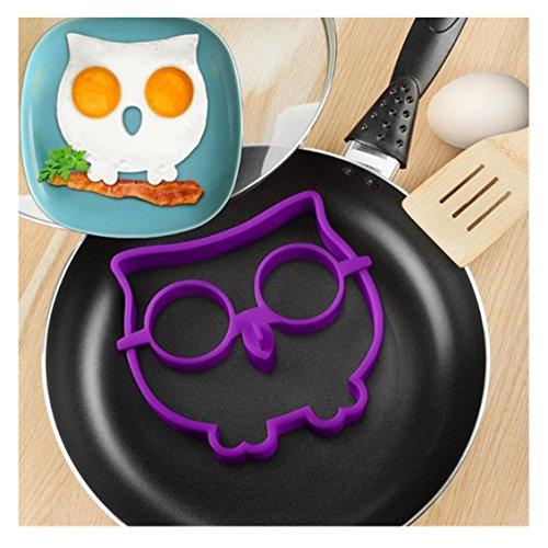 Omelette-/Pancake-Form, Transer® 2017er-Kollektion, hitzebeständiges Kochgeschirr aus Silikon, Eulenform, für Spiegelei