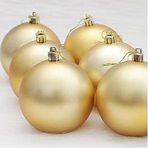 boldion (TM) 6matt Bälle 6cm Baum adornos Navidad Weihnachten Dekoration für Home enfeite de Natal 3Farben (Dicke Christmas Garland)