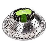 Koala Kitchen Edelstahl Dämpfeinsatz für Koch-Töpfe von 18cm - 28cm stufenlos verstellbarer Dampfgarer zum Gemüse dämpfen BPA-frei rostfrei geeignet für Baby-Nahrung - 3
