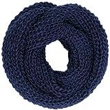 Caspar SC242 Écharpe tube chaude épurée et élégante pour femme, Couleur:bleu foncé