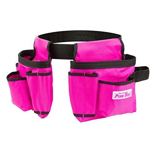 The Original Pink Box PB2BELT Tool Belt, 10-Pocket, Pink by The Original Pink Box