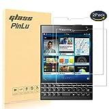 [2 Pack] Protector de pantalla de cristal para Blackberry Passport pinlu Protector Cristal Vidrio Templado para Blackberry Passport [9H/2.5D/0.26mm, 99% Transparente]