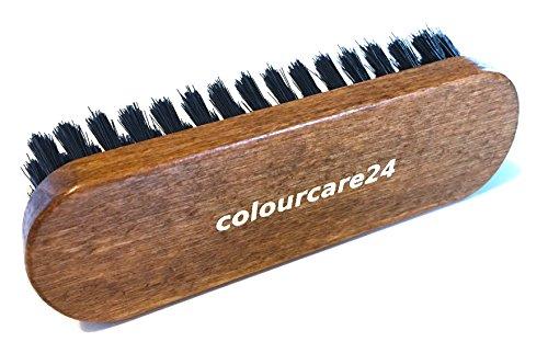 COLOURCARE24 - SPAZZOLA PER PELLE & CUOIO 135 X 40 - PULIZIA INTERNI AUTO, SEDILE VOLANTE