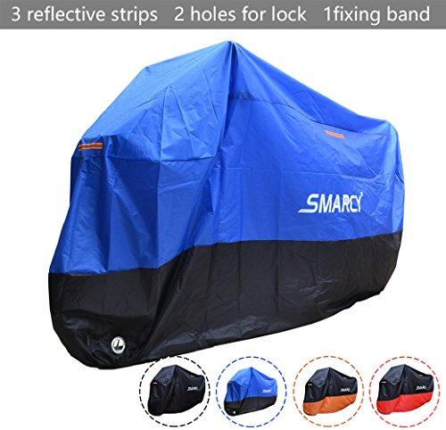 Smarcy Funda Protector para Moto, Cubierta para Moto / Motocicleta Resistente al Agua a Prueba de UV, Color Azul / Negro XL