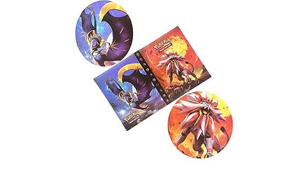 Album per Pokemon GX Ex Mega Carte Raccoglitore per Carte Pokemon Card Storage Set di Carte collezionabili per albu Disponibile Anche per Altri Giochi di Carte Sole e Luna