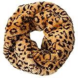 CASPAR SC480 Bufanda Infinita de Invierno para Mujer - Piel Sintética, Tamaño:Talla Única, Color:patrón de leopardo
