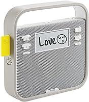 Triby - Radio Connectée Enceinte Portable et Téléphone Mains-Libres, Gris