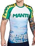 manto Short Sleeve Rashguard Rio MMA BJJ Vale Tudo, multicolore