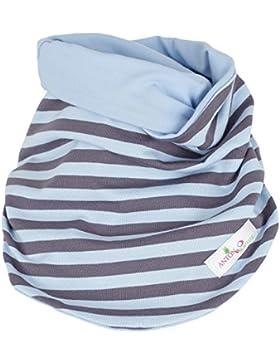 Scaldacollo / sciarpa grigio azzurro a righe per i bambini / ragazzi - TAGLIO INNOVATIVO - Primavera/Autunno -...