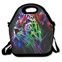 Pinypony Colorful Leopard Lunch Bag Lunch Tote