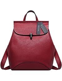 Ailina , Bolso mochila de Piel para mujer S