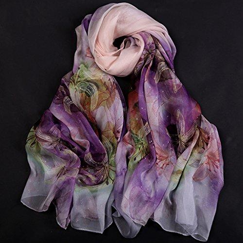 serviette de plage Ladies Print Soie Soie Longue chemise Éclave solaire Echarpe sauvage châle ( Couleur : #6 ) #12