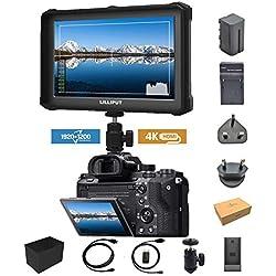 Noir Lilliput A7S 7 Pouces 1920 x 1200 IPS Screen Camera Field Monitor 4K HDMI Input Output DSLR Camera Moniteur A7 A7R A7S III A6500 A9 GH5 GH5s 5d Ronin 2 M + Batterie