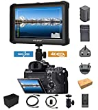 Nero Lilliput A7s-2 7 pollici 1920 x 1200 IPS Screen Camera Field Monitor 4K HDMI input output DSLR Camera A7 A7R A7S II A6500 A9 GH5 GH5s 5d Mark IV DJI Ronin M + Batteria