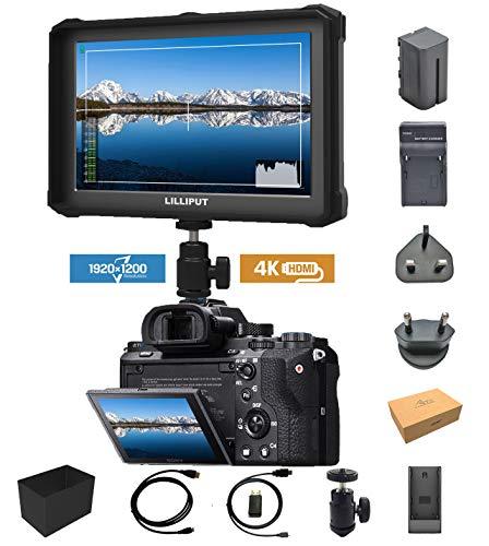 Schwarz Lilliput A7s-2 7 Zoll 1920x1200 IPS Screen Kamera Feldmonitor Field Monitor 4K HDMI Input Output Video DSLR Camera A7 A7R A7S III A6500 A9 GH5 GH5s 5D Ronin M + Akku