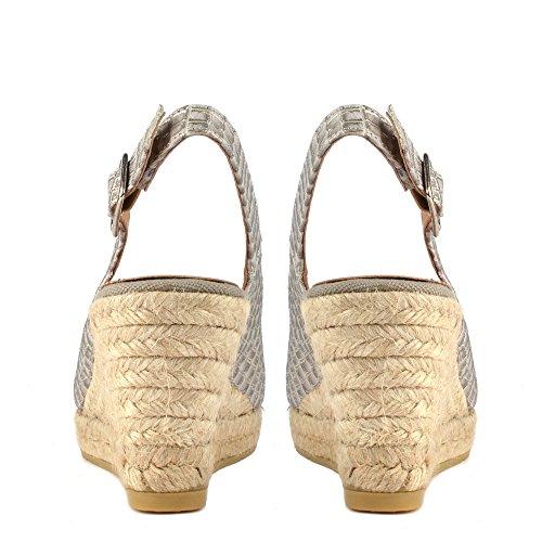 Kanna Schuhe Luna Sandalen Grau Damen Grau