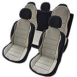 uncarparts UNOMS1B - Auto Hochwertige Sitzauflage Sitzschoner Sitzpolster 3er Set Beige New Design