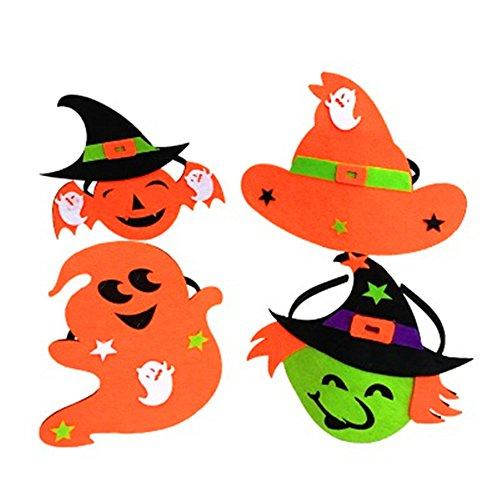 AAAHOMEEU 5Pcs Halloween-Klassiker, Verkauf sprießen Kopf, Kürbis, Geist, Hexe, Partei liefert, cos Stab, Stadiumsdekoration, (Printables Kürbis)