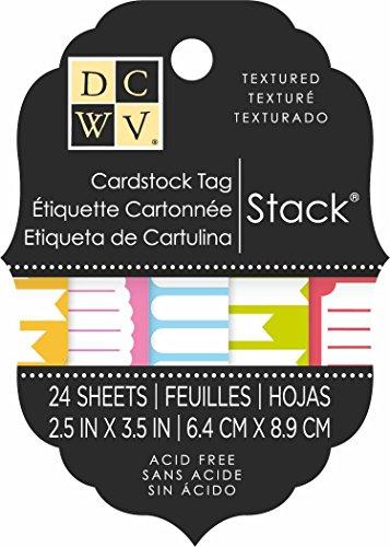 Die Cuts Con Vista Double Sided Tag Cartoncino, multi-colore