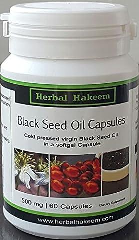 Black Seed Oil Capsules 500mg, 60 capsul (Made in Germany) - Nigella Sativa