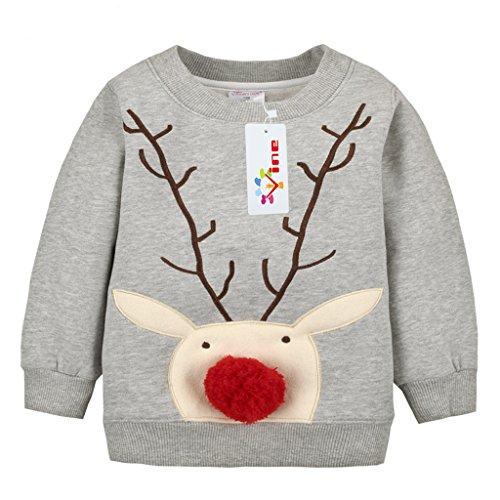 Sudaderas para Niños Navidad ciervos...