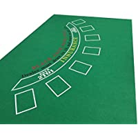 tapete verde de Blackjack para Casino (fieltro)