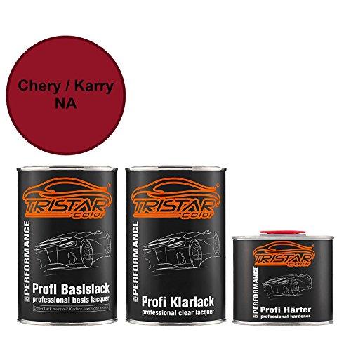 Preisvergleich Produktbild TRISTARcolor Autolack Set Dose spritzfertig Chery / Karry NA Vino Red Metallic / Cuprite Red Perl Basislack + 2K Klarlack 2, 5L