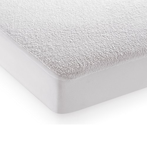 "Story@Home Water Resistant Premium Cotton Double Mattress Protector -(Queen /78"" X 60"") (White)"