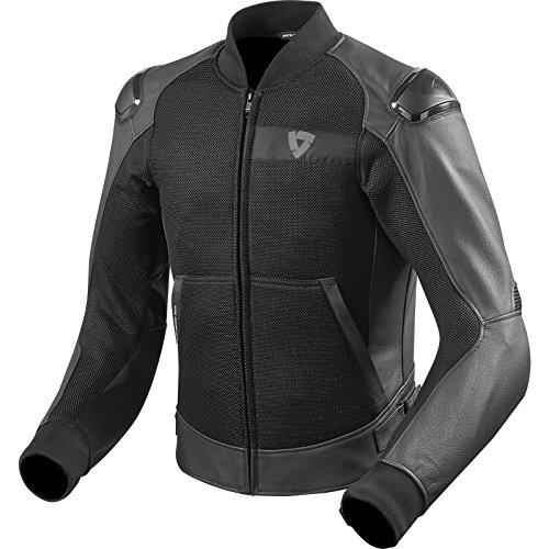 REVIT BLAKE AIR Herren Motorradjacke Sport Leder/Textil - schwarz Größe 52 (Jacke Air Leder)