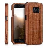 kwmobile Samsung Galaxy S7 Hülle - Handy Schutzhülle aus Holz - Cover Case Handyhülle für Samsung Galaxy S7