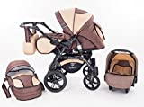 Kinderwagen Babywagen Kombikinderwagen TriBeCe Cloud 3 in 1...