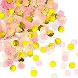 Oblique-Unique Papier Konfetti Rosa Gold Weiß Tisch Deko Streu Dekoration für Geburtstag Feier Party Hochzeit JGA Jubiläum