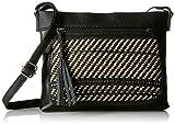 The SAK Damen Woven Sanibel, Mini-Crossbody-Tasche, gewebt, Black with Sahara, Einheitsgröße