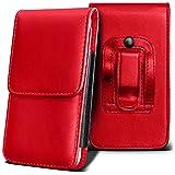 Haier W716 Holster Case - ( Red ) Universal Vertical Pouch Flip Belt Clip PU Leather Wallet Case Bag ( Haier W716 Holster Case - ( rojo ) Universal funda Vertical Flip Clip de cinturón de cuero pu Bolsa funda monedero )