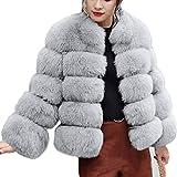 iHENGH Vorweihnachtliche Karnevalsaktion Damen Herbst Winter Bequem Mantel Lässig Mode Jacke Frauenmode Luxus Faux Pelzmantel Stand Herbst Winter Warm Mantel