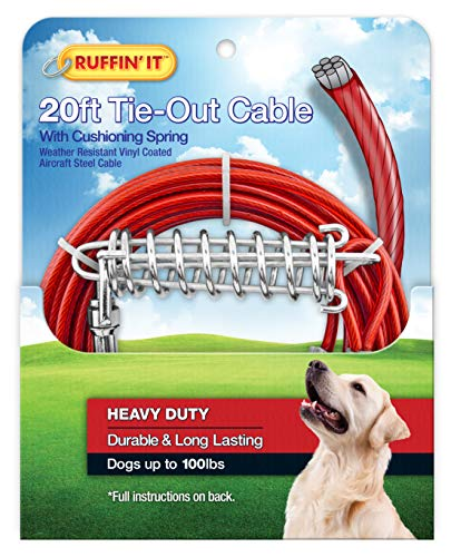 Westminster Pet Products Heavy Tie out con molla, 6,1m