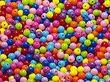 Acryl Perlen Spacer Beads 6 mm Multicolor Schmuckperlen Kinderperlen Bastelperlen 200 Stück