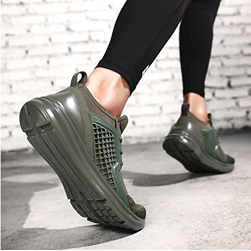 AARDIMI Scarpe da corsa uomo Verde