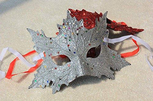 SOUTHSKY venezianischer maskenball Maske Seide weiße Karneval maskenball Halloween - kostüm Lady - Maske mädchen - ()